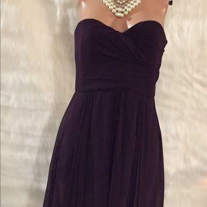 Lauren Ralph Lauren Evening strapless scarf dress